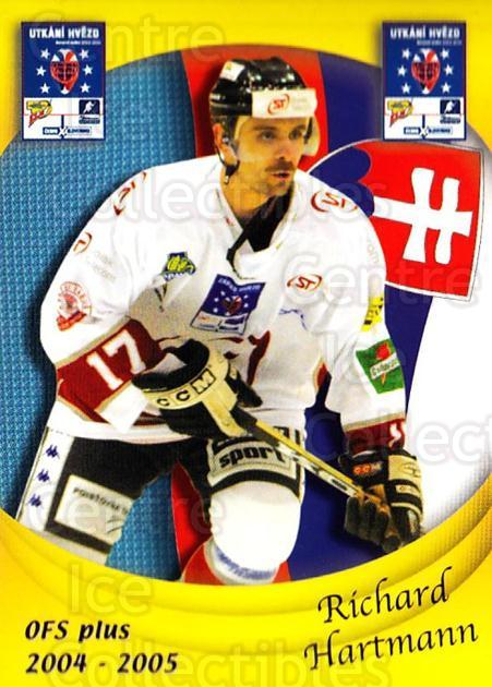 2004-05 Czech OFS Czech/Slovak AS Game #29 Richard Hartmann<br/>1 In Stock - $2.00 each - <a href=https://centericecollectibles.foxycart.com/cart?name=2004-05%20Czech%20OFS%20Czech/Slovak%20AS%20Game%20%2329%20Richard%20Hartman...&quantity_max=1&price=$2.00&code=165263 class=foxycart> Buy it now! </a>