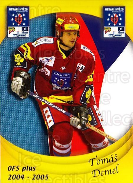 2004-05 Czech OFS Czech/Slovak AS Game #3 Tomas Demel<br/>3 In Stock - $2.00 each - <a href=https://centericecollectibles.foxycart.com/cart?name=2004-05%20Czech%20OFS%20Czech/Slovak%20AS%20Game%20%233%20Tomas%20Demel...&quantity_max=3&price=$2.00&code=165264 class=foxycart> Buy it now! </a>