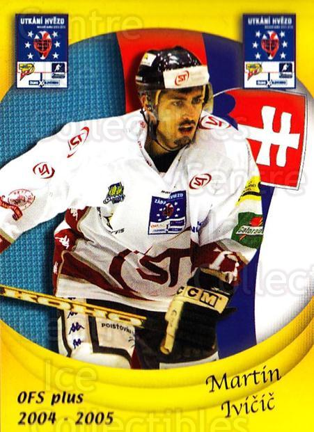 2004-05 Czech OFS Czech/Slovak AS Game #31 Martin Ivicic<br/>6 In Stock - $2.00 each - <a href=https://centericecollectibles.foxycart.com/cart?name=2004-05%20Czech%20OFS%20Czech/Slovak%20AS%20Game%20%2331%20Martin%20Ivicic...&quantity_max=6&price=$2.00&code=165266 class=foxycart> Buy it now! </a>