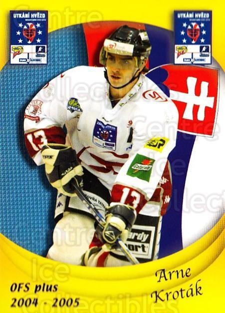 2004-05 Czech OFS Czech/Slovak AS Game #34 Arne Krotak<br/>6 In Stock - $2.00 each - <a href=https://centericecollectibles.foxycart.com/cart?name=2004-05%20Czech%20OFS%20Czech/Slovak%20AS%20Game%20%2334%20Arne%20Krotak...&quantity_max=6&price=$2.00&code=165269 class=foxycart> Buy it now! </a>