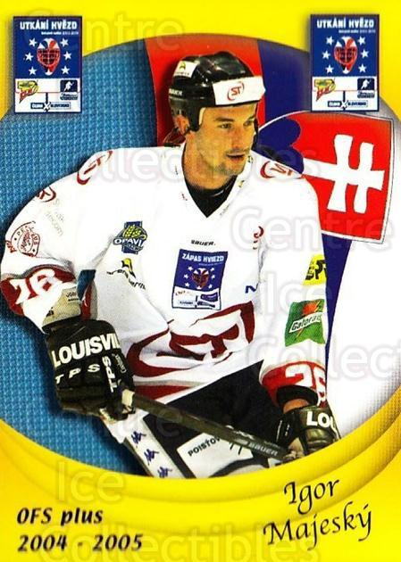 2004-05 Czech OFS Czech/Slovak AS Game #36 Igor Majesky<br/>2 In Stock - $2.00 each - <a href=https://centericecollectibles.foxycart.com/cart?name=2004-05%20Czech%20OFS%20Czech/Slovak%20AS%20Game%20%2336%20Igor%20Majesky...&quantity_max=2&price=$2.00&code=165270 class=foxycart> Buy it now! </a>