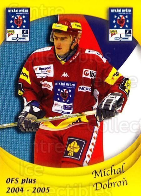 2004-05 Czech OFS Czech/Slovak AS Game #4 Michal Dobron<br/>3 In Stock - $2.00 each - <a href=https://centericecollectibles.foxycart.com/cart?name=2004-05%20Czech%20OFS%20Czech/Slovak%20AS%20Game%20%234%20Michal%20Dobron...&quantity_max=3&price=$2.00&code=165273 class=foxycart> Buy it now! </a>