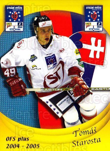 2004-05 Czech OFS Czech/Slovak AS Game #43 Tomas Starosta<br/>2 In Stock - $2.00 each - <a href=https://centericecollectibles.foxycart.com/cart?name=2004-05%20Czech%20OFS%20Czech/Slovak%20AS%20Game%20%2343%20Tomas%20Starosta...&quantity_max=2&price=$2.00&code=165277 class=foxycart> Buy it now! </a>