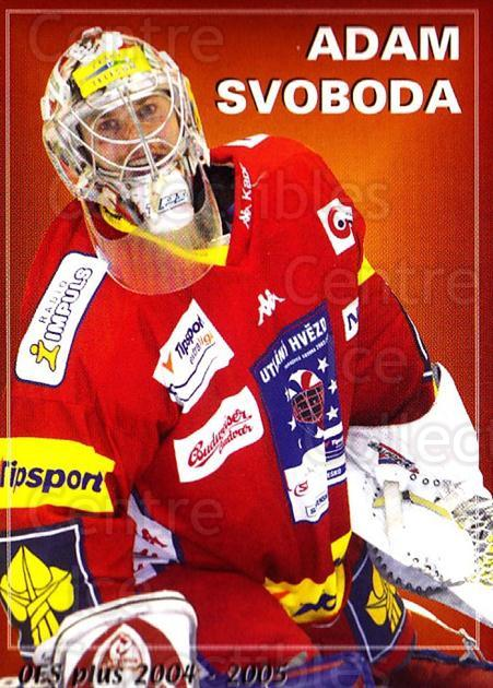 2004-05 Czech OFS Czech/Slovak AS Game #45 Adam Svoboda, Checklist<br/>2 In Stock - $2.00 each - <a href=https://centericecollectibles.foxycart.com/cart?name=2004-05%20Czech%20OFS%20Czech/Slovak%20AS%20Game%20%2345%20Adam%20Svoboda,%20C...&quantity_max=2&price=$2.00&code=165279 class=foxycart> Buy it now! </a>