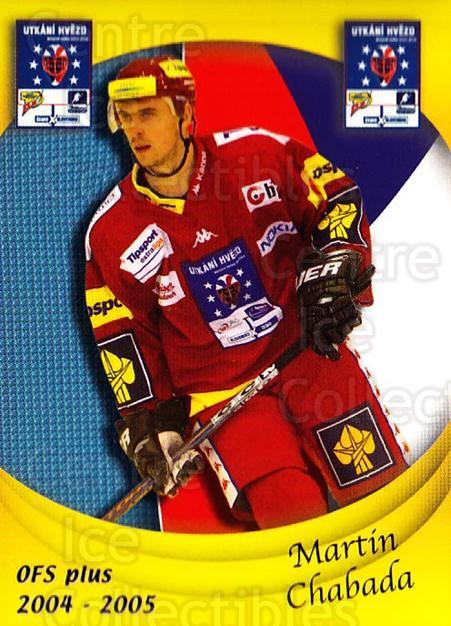 2004-05 Czech OFS Czech/Slovak AS Game #7 Martin Chabada<br/>5 In Stock - $2.00 each - <a href=https://centericecollectibles.foxycart.com/cart?name=2004-05%20Czech%20OFS%20Czech/Slovak%20AS%20Game%20%237%20Martin%20Chabada...&quantity_max=5&price=$2.00&code=165281 class=foxycart> Buy it now! </a>