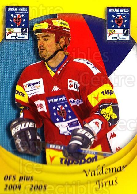 2004-05 Czech OFS Czech/Slovak AS Game #8 Valdemar Jirus<br/>5 In Stock - $2.00 each - <a href=https://centericecollectibles.foxycart.com/cart?name=2004-05%20Czech%20OFS%20Czech/Slovak%20AS%20Game%20%238%20Valdemar%20Jirus...&quantity_max=5&price=$2.00&code=165282 class=foxycart> Buy it now! </a>
