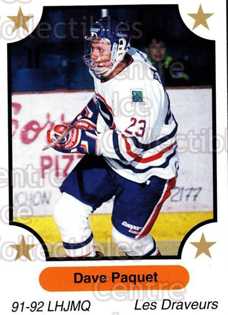1991-92 7th Inning Sketch QMJHL #113 Dave Paquet<br/>7 In Stock - $1.00 each - <a href=https://centericecollectibles.foxycart.com/cart?name=1991-92%207th%20Inning%20Sketch%20QMJHL%20%23113%20Dave%20Paquet...&quantity_max=7&price=$1.00&code=16545 class=foxycart> Buy it now! </a>