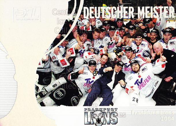 2004-05 German DEL Insert #2 Frankfurt Lions<br/>5 In Stock - $3.00 each - <a href=https://centericecollectibles.foxycart.com/cart?name=2004-05%20German%20DEL%20Insert%20%232%20Frankfurt%20Lions...&quantity_max=5&price=$3.00&code=165618 class=foxycart> Buy it now! </a>