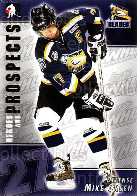 2004-05 ITG Heroes and Prospects #95 Mike Green<br/>17 In Stock - $1.00 each - <a href=https://centericecollectibles.foxycart.com/cart?name=2004-05%20ITG%20Heroes%20and%20Prospects%20%2395%20Mike%20Green...&quantity_max=17&price=$1.00&code=165621 class=foxycart> Buy it now! </a>