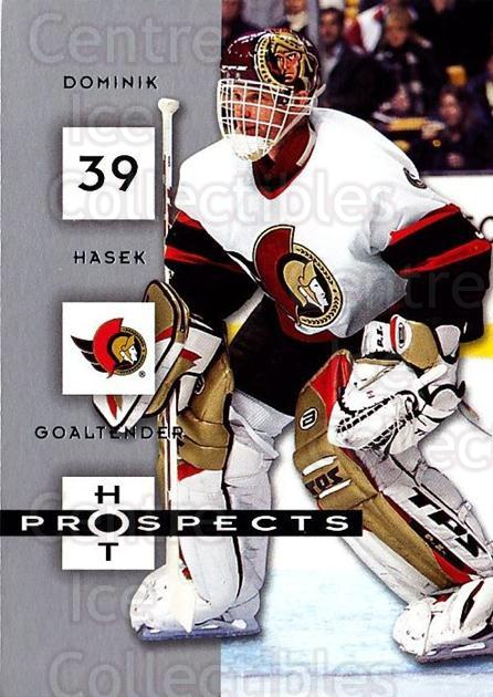 2005-06 Hot Prospects #68 Dominik Hasek<br/>4 In Stock - $1.00 each - <a href=https://centericecollectibles.foxycart.com/cart?name=2005-06%20Hot%20Prospects%20%2368%20Dominik%20Hasek...&quantity_max=4&price=$1.00&code=166000 class=foxycart> Buy it now! </a>