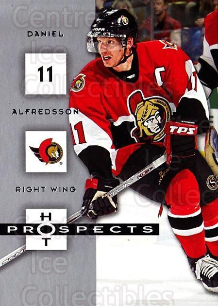 2005-06 Hot Prospects #69 Daniel Alfredsson<br/>6 In Stock - $1.00 each - <a href=https://centericecollectibles.foxycart.com/cart?name=2005-06%20Hot%20Prospects%20%2369%20Daniel%20Alfredss...&quantity_max=6&price=$1.00&code=166001 class=foxycart> Buy it now! </a>