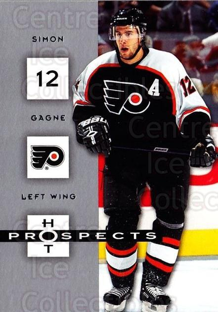 2005-06 Hot Prospects #72 Simon Gagne<br/>6 In Stock - $1.00 each - <a href=https://centericecollectibles.foxycart.com/cart?name=2005-06%20Hot%20Prospects%20%2372%20Simon%20Gagne...&quantity_max=6&price=$1.00&code=166005 class=foxycart> Buy it now! </a>