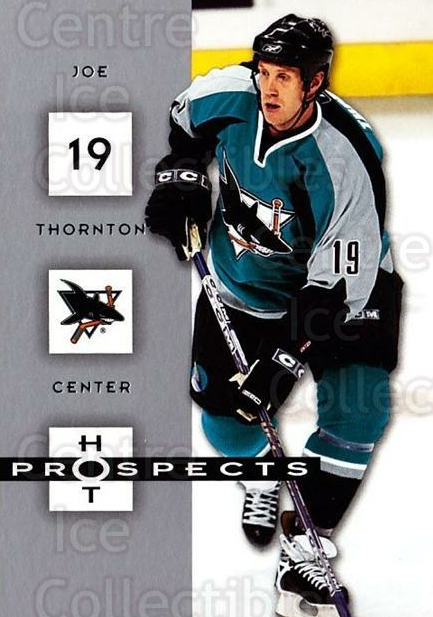 2005-06 Hot Prospects #82 Joe Thornton<br/>6 In Stock - $1.00 each - <a href=https://centericecollectibles.foxycart.com/cart?name=2005-06%20Hot%20Prospects%20%2382%20Joe%20Thornton...&quantity_max=6&price=$1.00&code=166016 class=foxycart> Buy it now! </a>