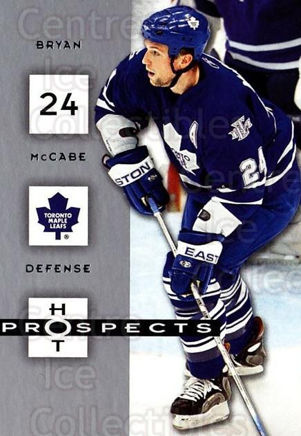 2005-06 Hot Prospects #94 Bryan McCabe<br/>5 In Stock - $1.00 each - <a href=https://centericecollectibles.foxycart.com/cart?name=2005-06%20Hot%20Prospects%20%2394%20Bryan%20McCabe...&quantity_max=5&price=$1.00&code=166029 class=foxycart> Buy it now! </a>