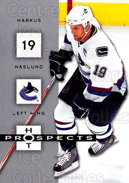 2005-06 Hot Prospects #96 Markus Naslund<br/>5 In Stock - $1.00 each - <a href=https://centericecollectibles.foxycart.com/cart?name=2005-06%20Hot%20Prospects%20%2396%20Markus%20Naslund...&quantity_max=5&price=$1.00&code=166031 class=foxycart> Buy it now! </a>