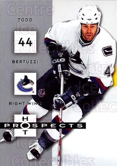 2005-06 Hot Prospects #98 Todd Bertuzzi<br/>6 In Stock - $1.00 each - <a href=https://centericecollectibles.foxycart.com/cart?name=2005-06%20Hot%20Prospects%20%2398%20Todd%20Bertuzzi...&quantity_max=6&price=$1.00&code=166033 class=foxycart> Buy it now! </a>