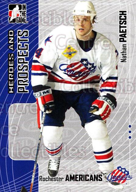 2005-06 ITG Heroes and Prospects #259 Nathan Paetsch<br/>6 In Stock - $1.00 each - <a href=https://centericecollectibles.foxycart.com/cart?name=2005-06%20ITG%20Heroes%20and%20Prospects%20%23259%20Nathan%20Paetsch...&price=$1.00&code=166260 class=foxycart> Buy it now! </a>