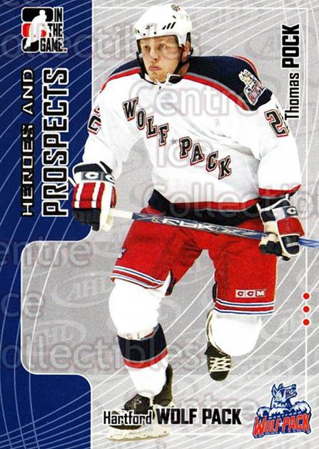 2005-06 ITG Heroes and Prospects #272 Thomas Pock<br/>1 In Stock - $1.00 each - <a href=https://centericecollectibles.foxycart.com/cart?name=2005-06%20ITG%20Heroes%20and%20Prospects%20%23272%20Thomas%20Pock...&price=$1.00&code=166275 class=foxycart> Buy it now! </a>