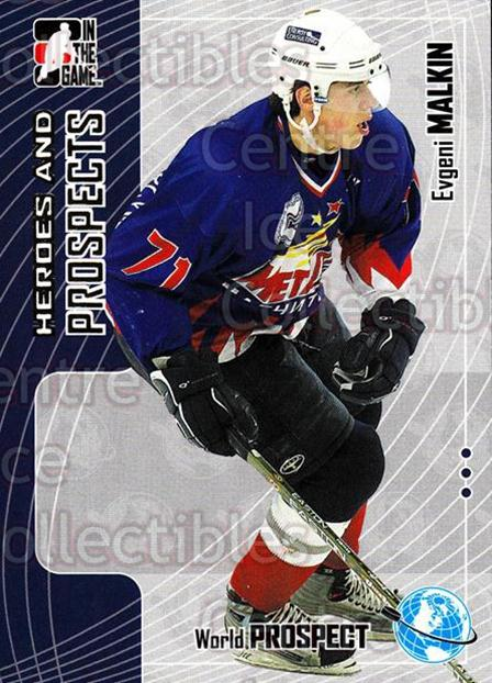 2005-06 ITG Heroes and Prospects #278 Evgeni Malkin<br/>85 In Stock - $2.00 each - <a href=https://centericecollectibles.foxycart.com/cart?name=2005-06%20ITG%20Heroes%20and%20Prospects%20%23278%20Evgeni%20Malkin...&price=$2.00&code=166281 class=foxycart> Buy it now! </a>