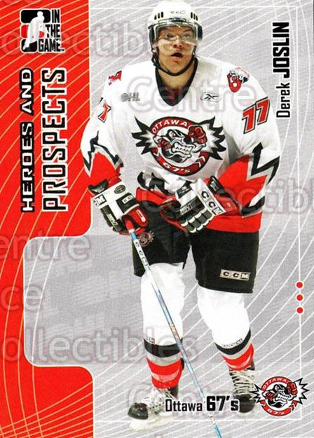 2005-06 ITG Heroes and Prospects #288 Derek Joslin<br/>2 In Stock - $1.00 each - <a href=https://centericecollectibles.foxycart.com/cart?name=2005-06%20ITG%20Heroes%20and%20Prospects%20%23288%20Derek%20Joslin...&price=$1.00&code=166292 class=foxycart> Buy it now! </a>