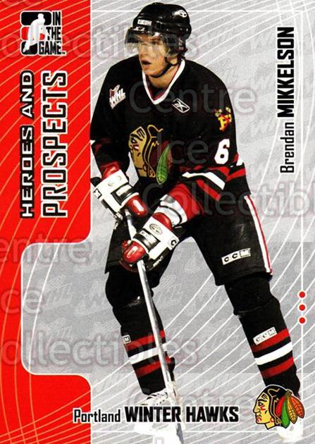 2005-06 ITG Heroes and Prospects #165 Brendan Mikkelson<br/>18 In Stock - $1.00 each - <a href=https://centericecollectibles.foxycart.com/cart?name=2005-06%20ITG%20Heroes%20and%20Prospects%20%23165%20Brendan%20Mikkels...&price=$1.00&code=166304 class=foxycart> Buy it now! </a>