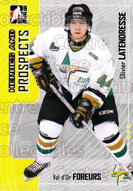 2005-06 ITG Heroes and Prospects #301 Olivier Latendresse<br/>1 In Stock - $1.00 each - <a href=https://centericecollectibles.foxycart.com/cart?name=2005-06%20ITG%20Heroes%20and%20Prospects%20%23301%20Olivier%20Latendr...&price=$1.00&code=166309 class=foxycart> Buy it now! </a>