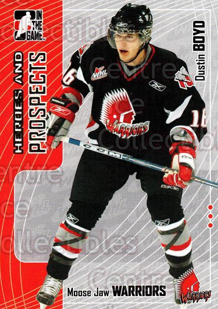 2005-06 ITG Heroes and Prospects #322 Dustin Boyd<br/>8 In Stock - $1.00 each - <a href=https://centericecollectibles.foxycart.com/cart?name=2005-06%20ITG%20Heroes%20and%20Prospects%20%23322%20Dustin%20Boyd...&price=$1.00&code=166332 class=foxycart> Buy it now! </a>