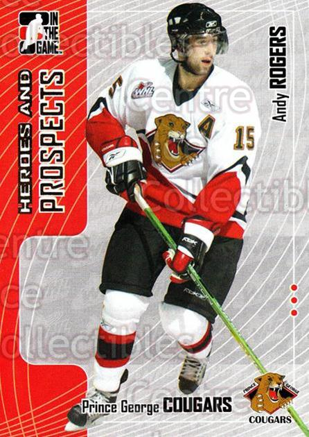 2005-06 ITG Heroes and Prospects #325 Andy Rogers<br/>7 In Stock - $1.00 each - <a href=https://centericecollectibles.foxycart.com/cart?name=2005-06%20ITG%20Heroes%20and%20Prospects%20%23325%20Andy%20Rogers...&price=$1.00&code=166335 class=foxycart> Buy it now! </a>