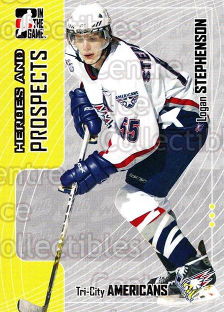 2005-06 ITG Heroes and Prospects #327 Logan Stephenson<br/>5 In Stock - $1.00 each - <a href=https://centericecollectibles.foxycart.com/cart?name=2005-06%20ITG%20Heroes%20and%20Prospects%20%23327%20Logan%20Stephenso...&price=$1.00&code=166337 class=foxycart> Buy it now! </a>