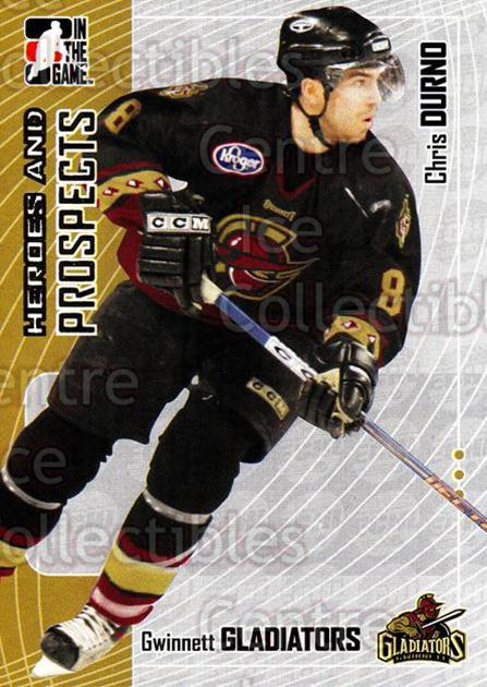 2005-06 ITG Heroes and Prospects #357 Chris Durno<br/>5 In Stock - $1.00 each - <a href=https://centericecollectibles.foxycart.com/cart?name=2005-06%20ITG%20Heroes%20and%20Prospects%20%23357%20Chris%20Durno...&quantity_max=5&price=$1.00&code=166366 class=foxycart> Buy it now! </a>