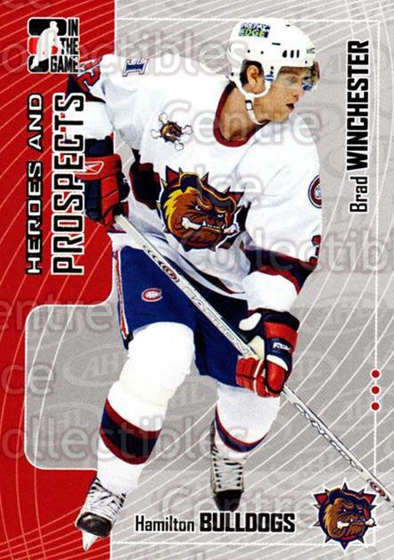 2005-06 ITG Heroes and Prospects #389 Brad Winchester<br/>24 In Stock - $1.00 each - <a href=https://centericecollectibles.foxycart.com/cart?name=2005-06%20ITG%20Heroes%20and%20Prospects%20%23389%20Brad%20Winchester...&price=$1.00&code=166395 class=foxycart> Buy it now! </a>