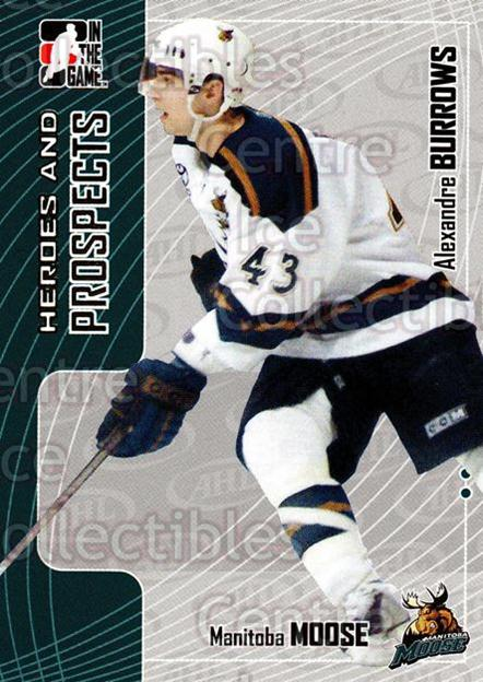 2005-06 ITG Heroes and Prospects #391 Alexandre Burrows<br/>16 In Stock - $1.00 each - <a href=https://centericecollectibles.foxycart.com/cart?name=2005-06%20ITG%20Heroes%20and%20Prospects%20%23391%20Alexandre%20Burro...&price=$1.00&code=166397 class=foxycart> Buy it now! </a>
