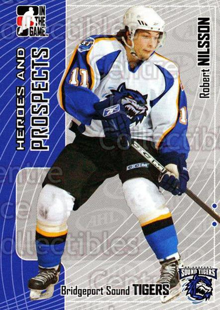 2005-06 ITG Heroes and Prospects #392 Robert Nilsson<br/>22 In Stock - $1.00 each - <a href=https://centericecollectibles.foxycart.com/cart?name=2005-06%20ITG%20Heroes%20and%20Prospects%20%23392%20Robert%20Nilsson...&price=$1.00&code=166398 class=foxycart> Buy it now! </a>