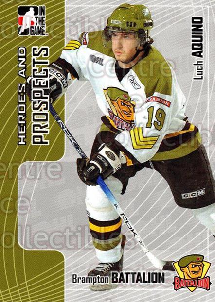 2005-06 ITG Heroes and Prospects #403 Luch Aquino<br/>22 In Stock - $1.00 each - <a href=https://centericecollectibles.foxycart.com/cart?name=2005-06%20ITG%20Heroes%20and%20Prospects%20%23403%20Luch%20Aquino...&price=$1.00&code=166410 class=foxycart> Buy it now! </a>