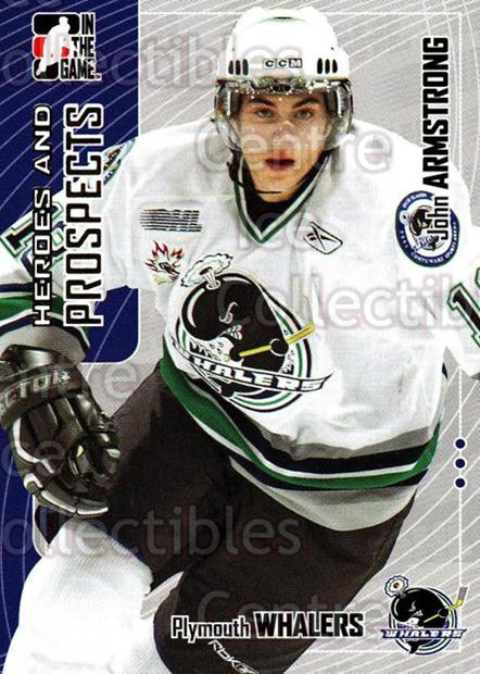 2005-06 ITG Heroes and Prospects #404 John Armstrong<br/>14 In Stock - $1.00 each - <a href=https://centericecollectibles.foxycart.com/cart?name=2005-06%20ITG%20Heroes%20and%20Prospects%20%23404%20John%20Armstrong...&price=$1.00&code=166411 class=foxycart> Buy it now! </a>