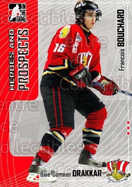 2005-06 ITG Heroes and Prospects #412 Francois Bouchard<br/>24 In Stock - $1.00 each - <a href=https://centericecollectibles.foxycart.com/cart?name=2005-06%20ITG%20Heroes%20and%20Prospects%20%23412%20Francois%20Boucha...&price=$1.00&code=166419 class=foxycart> Buy it now! </a>
