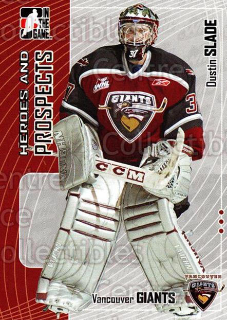 2005-06 ITG Heroes and Prospects #424 Dustin Slade<br/>21 In Stock - $1.00 each - <a href=https://centericecollectibles.foxycart.com/cart?name=2005-06%20ITG%20Heroes%20and%20Prospects%20%23424%20Dustin%20Slade...&price=$1.00&code=166432 class=foxycart> Buy it now! </a>
