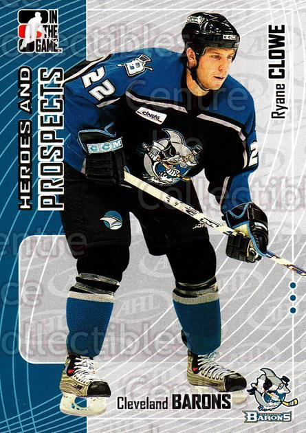 2005-06 ITG Heroes and Prospects #45 Ryane Clowe<br/>18 In Stock - $1.00 each - <a href=https://centericecollectibles.foxycart.com/cart?name=2005-06%20ITG%20Heroes%20and%20Prospects%20%2345%20Ryane%20Clowe...&price=$1.00&code=166441 class=foxycart> Buy it now! </a>
