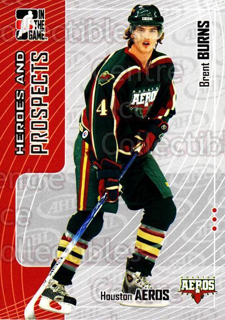 2005-06 ITG Heroes and Prospects #54 Brent Burns<br/>21 In Stock - $1.00 each - <a href=https://centericecollectibles.foxycart.com/cart?name=2005-06%20ITG%20Heroes%20and%20Prospects%20%2354%20Brent%20Burns...&price=$1.00&code=166450 class=foxycart> Buy it now! </a>