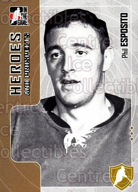 2005-06 ITG Heroes and Prospects #6 Phil Esposito<br/>19 In Stock - $2.00 each - <a href=https://centericecollectibles.foxycart.com/cart?name=2005-06%20ITG%20Heroes%20and%20Prospects%20%236%20Phil%20Esposito...&quantity_max=19&price=$2.00&code=166454 class=foxycart> Buy it now! </a>