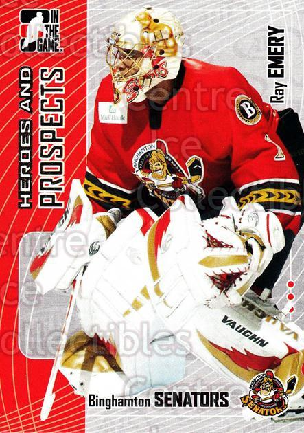 2005-06 ITG Heroes and Prospects #66 Ray Emery<br/>19 In Stock - $1.00 each - <a href=https://centericecollectibles.foxycart.com/cart?name=2005-06%20ITG%20Heroes%20and%20Prospects%20%2366%20Ray%20Emery...&price=$1.00&code=166461 class=foxycart> Buy it now! </a>