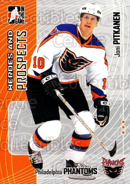 2005-06 ITG Heroes and Prospects #76 Joni Pitkanen<br/>17 In Stock - $1.00 each - <a href=https://centericecollectibles.foxycart.com/cart?name=2005-06%20ITG%20Heroes%20and%20Prospects%20%2376%20Joni%20Pitkanen...&price=$1.00&code=166472 class=foxycart> Buy it now! </a>