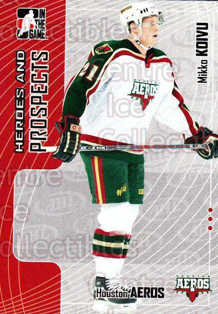 2005-06 ITG Heroes and Prospects #78 Mikko Koivu<br/>19 In Stock - $1.00 each - <a href=https://centericecollectibles.foxycart.com/cart?name=2005-06%20ITG%20Heroes%20and%20Prospects%20%2378%20Mikko%20Koivu...&price=$1.00&code=166474 class=foxycart> Buy it now! </a>