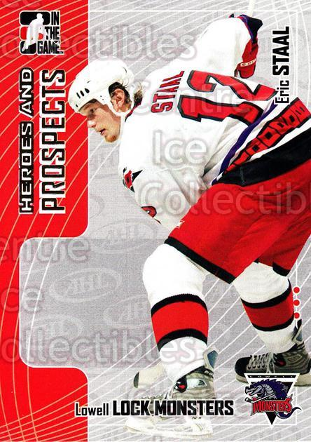 2005-06 ITG Heroes and Prospects #82 Eric Staal<br/>19 In Stock - $1.00 each - <a href=https://centericecollectibles.foxycart.com/cart?name=2005-06%20ITG%20Heroes%20and%20Prospects%20%2382%20Eric%20Staal...&price=$1.00&code=166478 class=foxycart> Buy it now! </a>