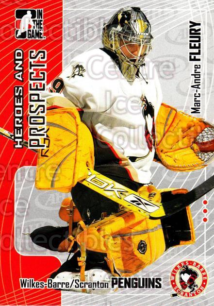2005-06 ITG Heroes and Prospects #84 Marc-Andre Fleury<br/>19 In Stock - $1.00 each - <a href=https://centericecollectibles.foxycart.com/cart?name=2005-06%20ITG%20Heroes%20and%20Prospects%20%2384%20Marc-Andre%20Fleu...&price=$1.00&code=166480 class=foxycart> Buy it now! </a>