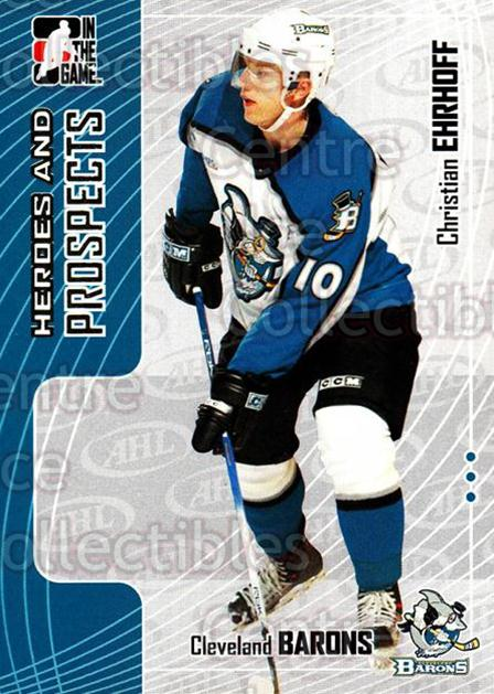 2005-06 ITG Heroes and Prospects #96 Christian Ehrhoff<br/>98 In Stock - $1.00 each - <a href=https://centericecollectibles.foxycart.com/cart?name=2005-06%20ITG%20Heroes%20and%20Prospects%20%2396%20Christian%20Ehrho...&price=$1.00&code=166493 class=foxycart> Buy it now! </a>