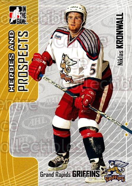 2005-06 ITG Heroes and Prospects #99 Niklas Kronwall<br/>20 In Stock - $1.00 each - <a href=https://centericecollectibles.foxycart.com/cart?name=2005-06%20ITG%20Heroes%20and%20Prospects%20%2399%20Niklas%20Kronwall...&price=$1.00&code=166496 class=foxycart> Buy it now! </a>