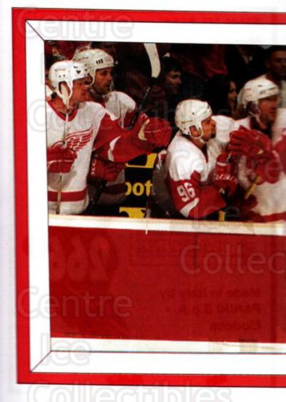 2005-06 Panini Stickers #266 Steve Yzerman, Robert Lang, Johan Franzen, Tomas Holmstrom, Detroit Red Wings<br/>5 In Stock - $2.00 each - <a href=https://centericecollectibles.foxycart.com/cart?name=2005-06%20Panini%20Stickers%20%23266%20Steve%20Yzerman,%20...&quantity_max=5&price=$2.00&code=166520 class=foxycart> Buy it now! </a>