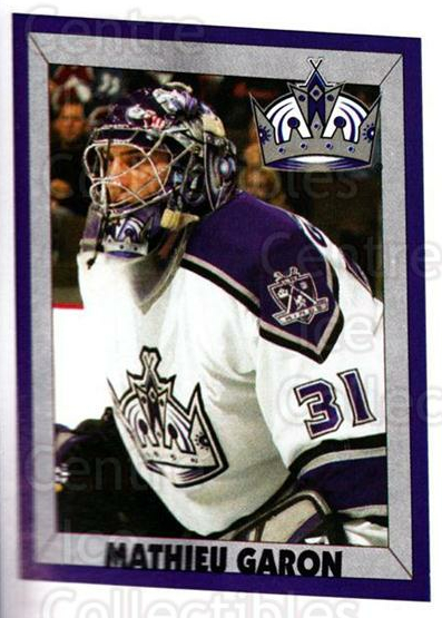 2005-06 Panini Stickers #293 Mathieu Garon<br/>10 In Stock - $1.00 each - <a href=https://centericecollectibles.foxycart.com/cart?name=2005-06%20Panini%20Stickers%20%23293%20Mathieu%20Garon...&quantity_max=10&price=$1.00&code=166550 class=foxycart> Buy it now! </a>
