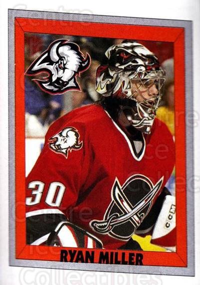 2005-06 Panini Stickers #35 Ryan Miller<br/>8 In Stock - $1.00 each - <a href=https://centericecollectibles.foxycart.com/cart?name=2005-06%20Panini%20Stickers%20%2335%20Ryan%20Miller...&quantity_max=8&price=$1.00&code=166613 class=foxycart> Buy it now! </a>